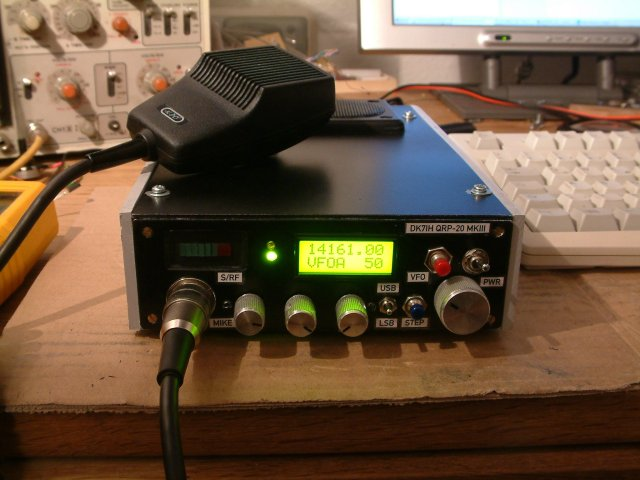 SSB Transceiver for 14 Mhz (20mtr) by Peter Rachow (DK7IH) - Front view
