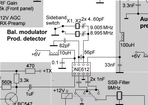 Sideband switching the NE612 (classical version)